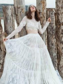 40 Einfache Crop Top Brautkleider Ideen 11