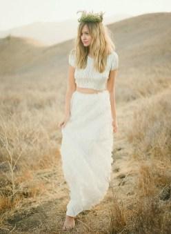 40 Einfache Crop Top Brautkleider Ideen 14
