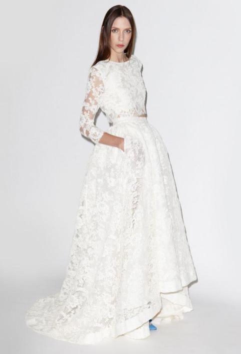 40 Einfache Crop Top Brautkleider Ideen 26