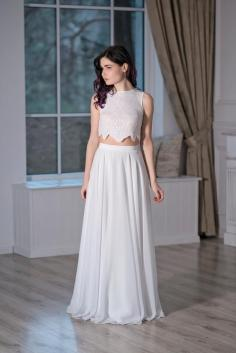 40 Einfache Crop Top Brautkleider Ideen 27