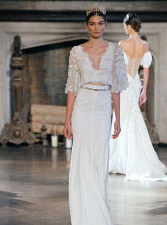 40 Einfache Crop Top Brautkleider Ideen 31