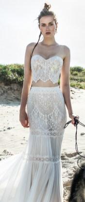 40 Einfache Crop Top Brautkleider Ideen 34