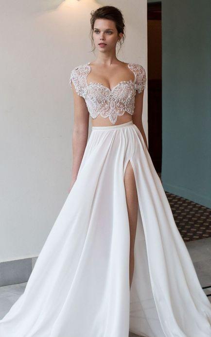 40 Einfache Crop Top Brautkleider Ideen 38