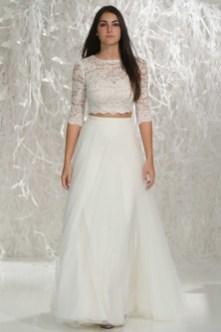 40 Einfache Crop Top Brautkleider Ideen 9