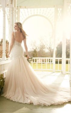 40 Fit and Flare With Long Train Wedding Dresses Ideas 22