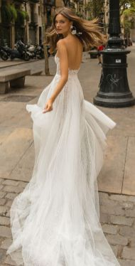 40 Fit and Flare With Long Train Wedding Dresses Ideas 24