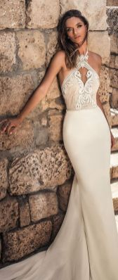 40 Fit and Flare With Long Train Wedding Dresses Ideas 30