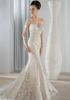 40 Fit and Flare With Long Train Wedding Dresses Ideas 4