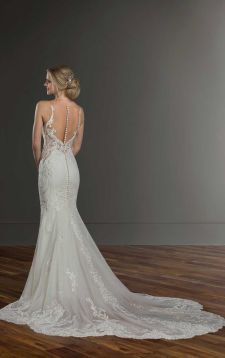 40 Fit and Flare With Long Train Wedding Dresses Ideas 43