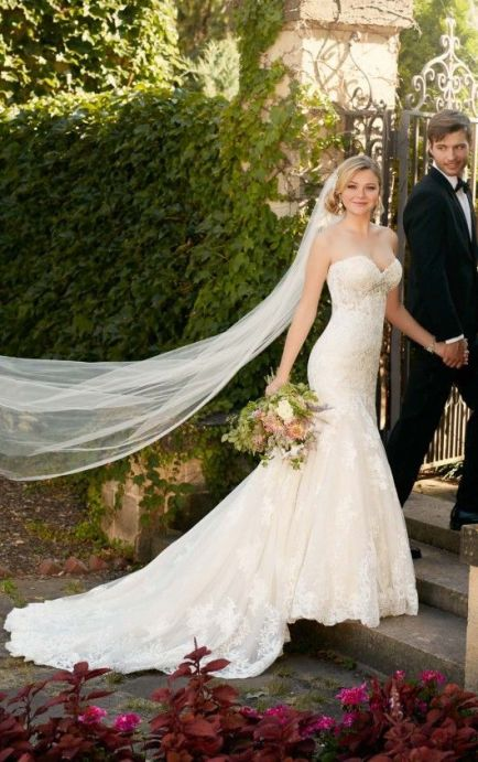 40 Fit and Flare With Long Train Wedding Dresses Ideas 46