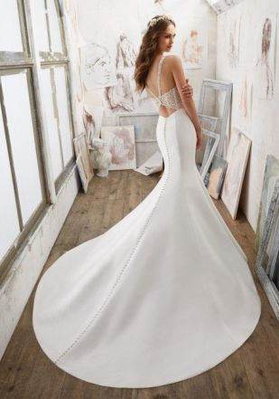 40 Fit and Flare With Long Train Wedding Dresses Ideas 7
