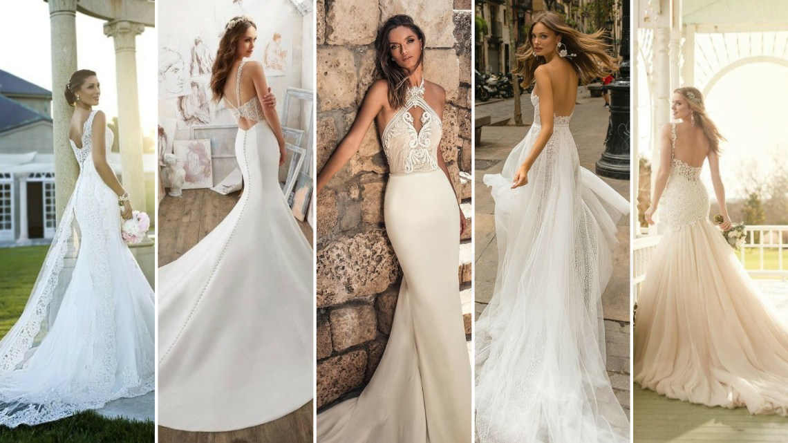 40 Fit and Flare With Long Train Wedding Dresses Ideas