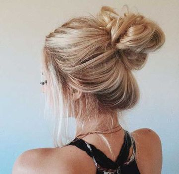 40 High Messy Bun Hairstyles Ideas 12