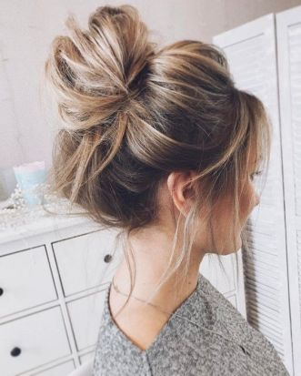 40 High Messy Bun Hairstyles Ideas 34