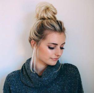 40 High Messy Bun Hairstyles Ideas 36