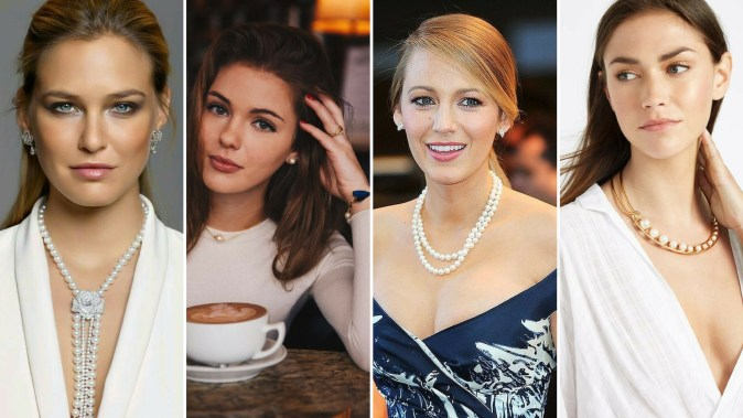 40 How to Wear a Pearl Necklace Ideas