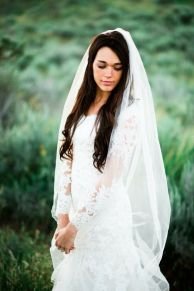 40 Long Viels Wedding Dresses Ideas 10