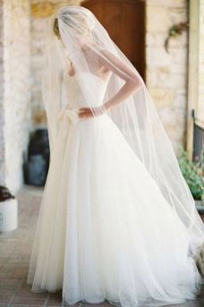 40 Long Viels Wedding Dresses Ideas 2