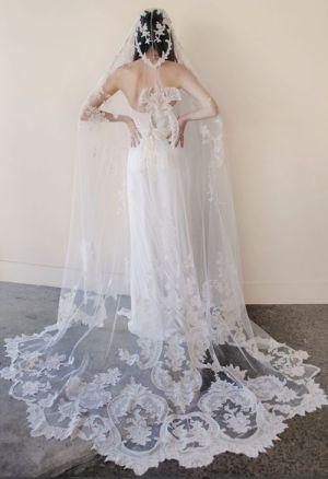 40 Long Viels Wedding Dresses Ideas 7
