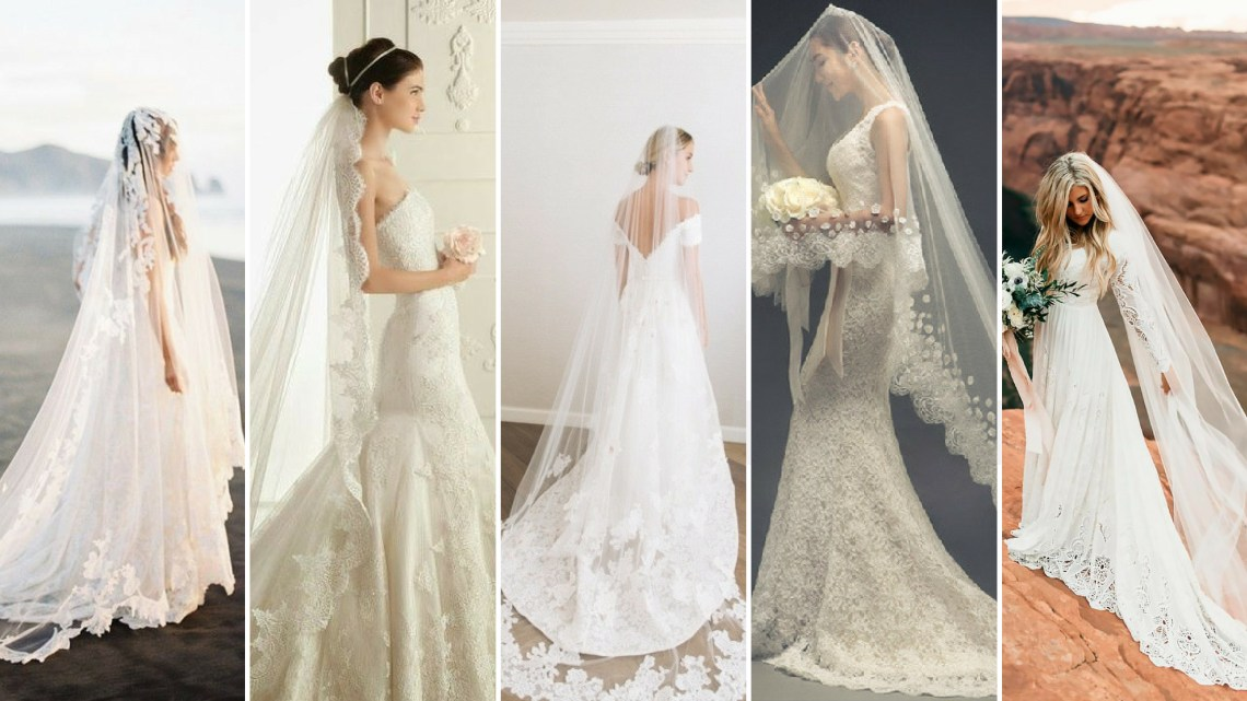 40 Long Viels Wedding Dresses Ideas