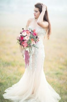 40 Shimmering Bridal Dresses Ideas 10