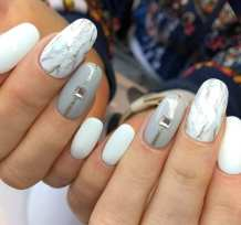 40 Simple Grey Nail Art Ideas 28 2