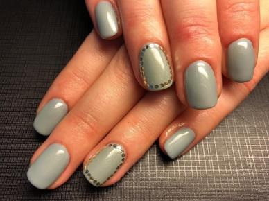 40 Simple Grey Nail Art Ideas 29 2