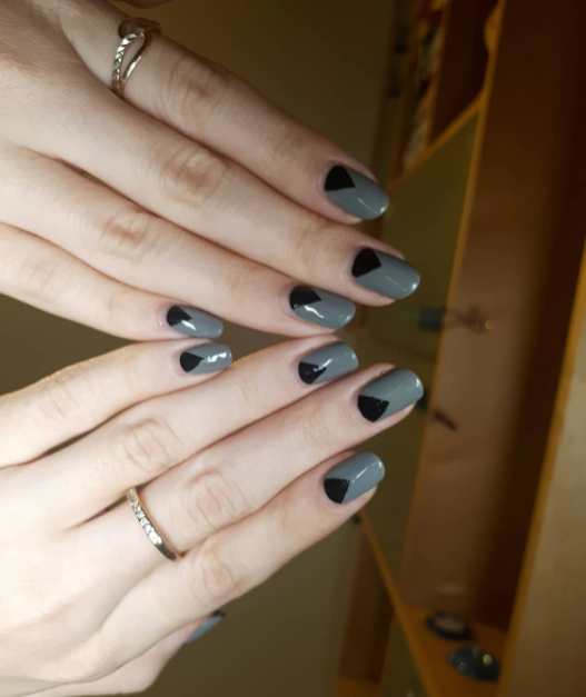 40 Simple Grey Nail Art Ideas 36 2