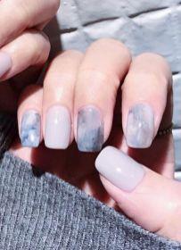 40 Simple Grey Nail Art Ideas 6 2