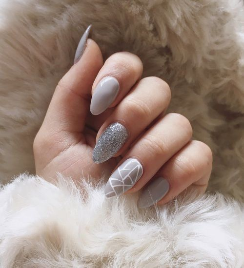 40 Simple Grey Nail Art Ideas 8 2