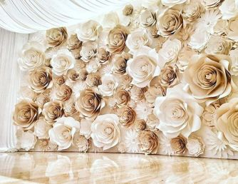 40 Ways to Use Paper Flowers At Your Wedding 44