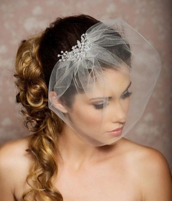50 Blusher Veils and Bridcage for Brides Ideas 12