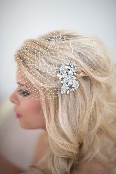 50 Blusher Veils and Bridcage for Brides Ideas 16