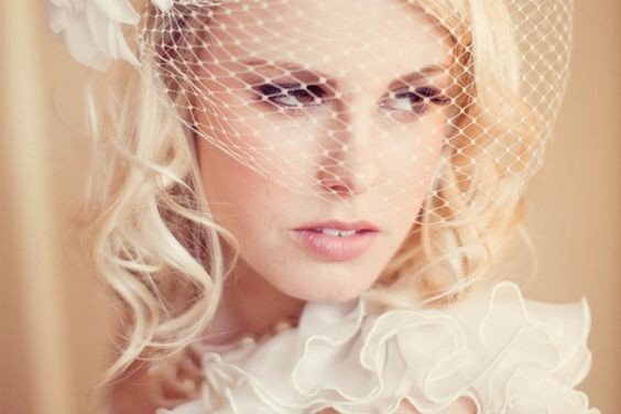 50 Blusher Veils and Bridcage for Brides Ideas 18