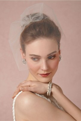50 Blusher Veils and Bridcage for Brides Ideas 28