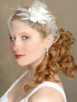 50 Blusher Veils and Bridcage for Brides Ideas 30