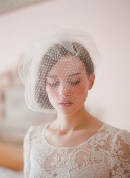 50 Blusher Veils and Bridcage for Brides Ideas 39