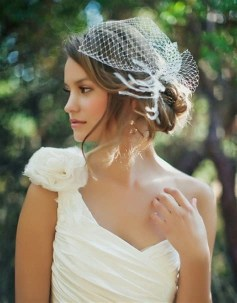 50 Blusher Veils and Bridcage for Brides Ideas 44