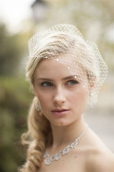 50 Blusher Veils and Bridcage for Brides Ideas 53