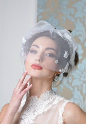 50 Blusher Veils and Bridcage for Brides Ideas 54