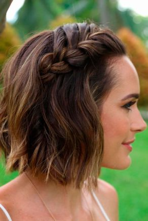 50 Braids Short Hair Wedding Hairstyles Ideas 13