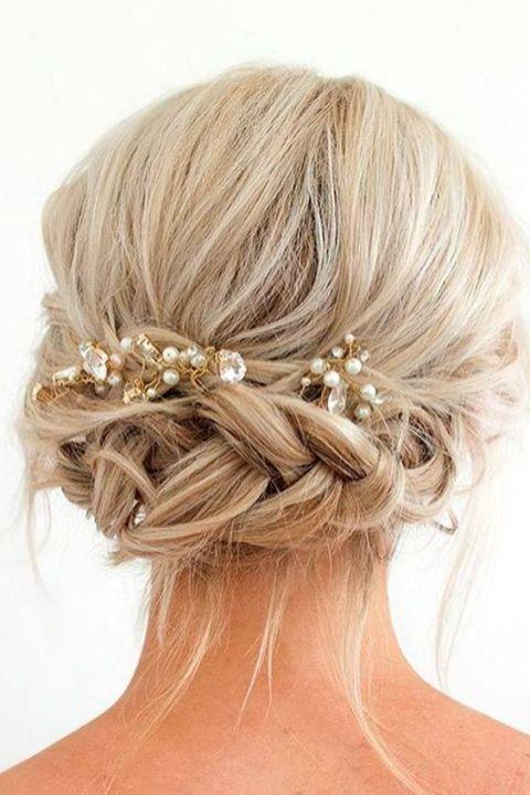 50 Braids Short Hair Wedding Hairstyles Ideas 24