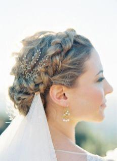 50 Braids Short Hair Wedding Hairstyles Ideas 25