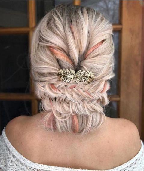 50 Braids Short Hair Wedding Hairstyles Ideas 31
