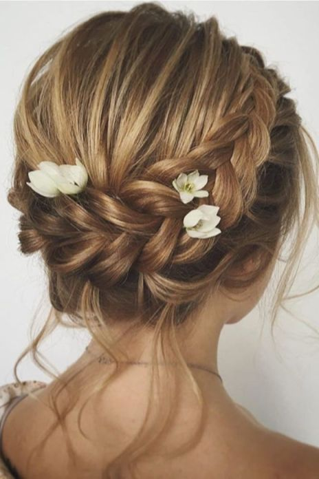 50 Braids Short Hair Wedding Hairstyles Ideas 5