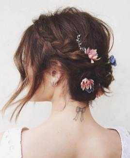 50 Braids Short Hair Wedding Hairstyles Ideas 8