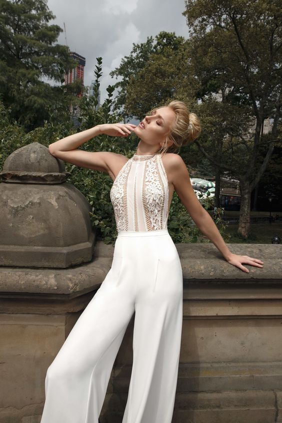 50 Bridal Jumpsuits Look Ideas 12