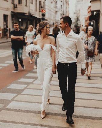 50 Bridal Jumpsuits Look Ideas 39