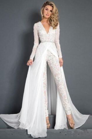 50 Bridal Jumpsuits Look Ideas 45