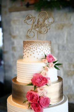 50 Gold Wedding Cakes Ideas 14